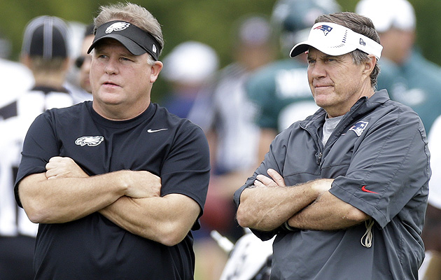 Chip Kelly and Bill Belichick