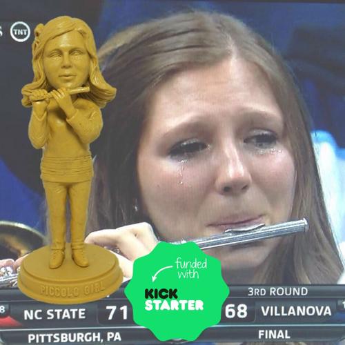 villanova piccolo player crying bobblhead