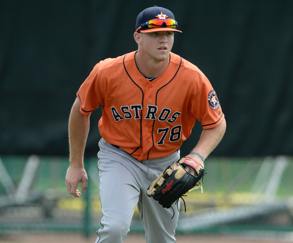 Astros prospect Derek Fisher has three home runs in debut