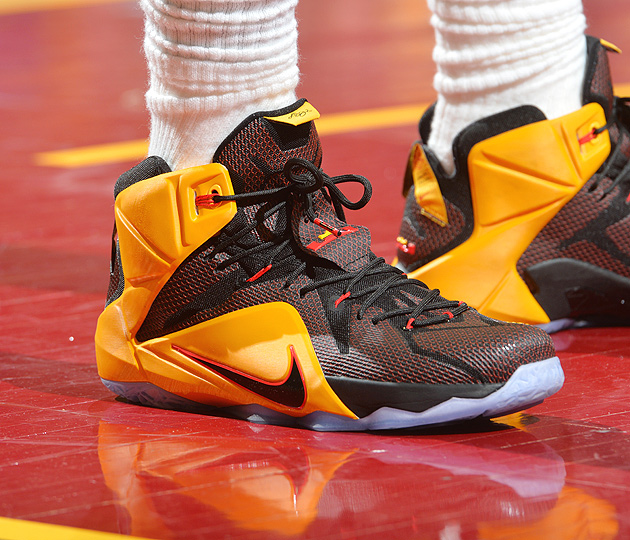 lebron shoes 2015 finals. jesse d. garrabrant/nbae/getty images lebron shoes 2015 finals l