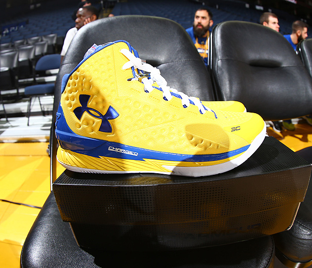 Warriors' Stephen Curry will wear his signature Under Armour 'Curry 1s' at the NBA Finals.