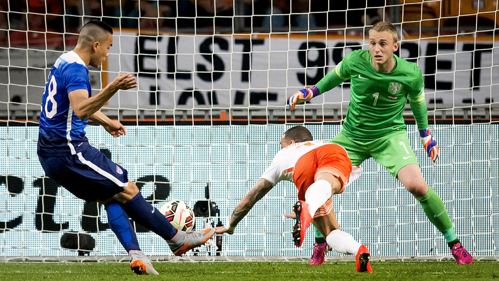 Bobby Wood puts the finishing touch on an epic comeback, with his 90th-minute strike capping a wild 4-3 win for the USA over the Netherlands. The USA trailed 3-1 in the 71st minute.