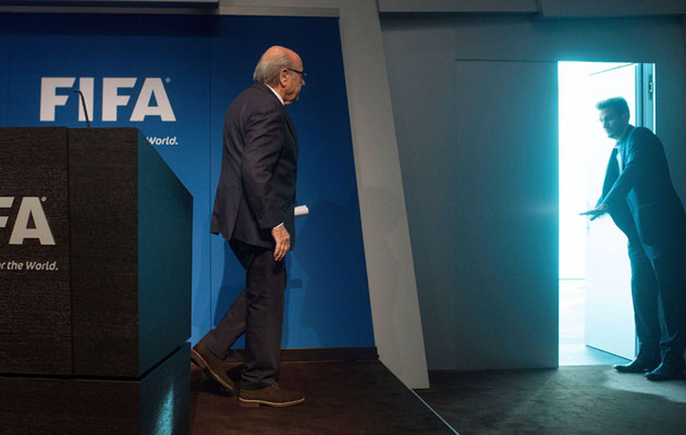 sepp blatter shown the door