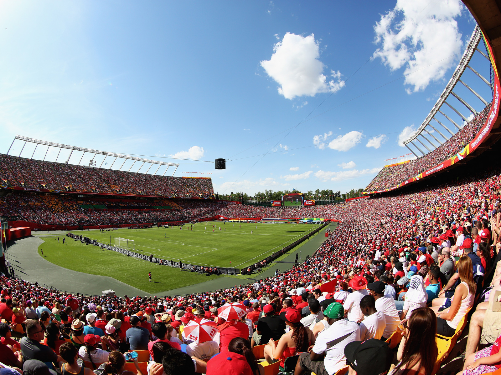 A crowd of 53,058 was on hand for Canada-China, a Canadian record for any national team in any sport.