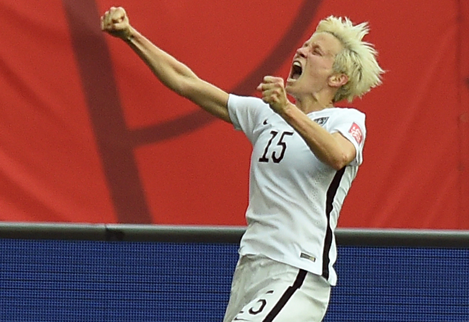 Megan Rapinoe lets out a yell after her second goal, which sealed the USA's 3-1 win over Australia to open Group D play in the Women's World Cup.