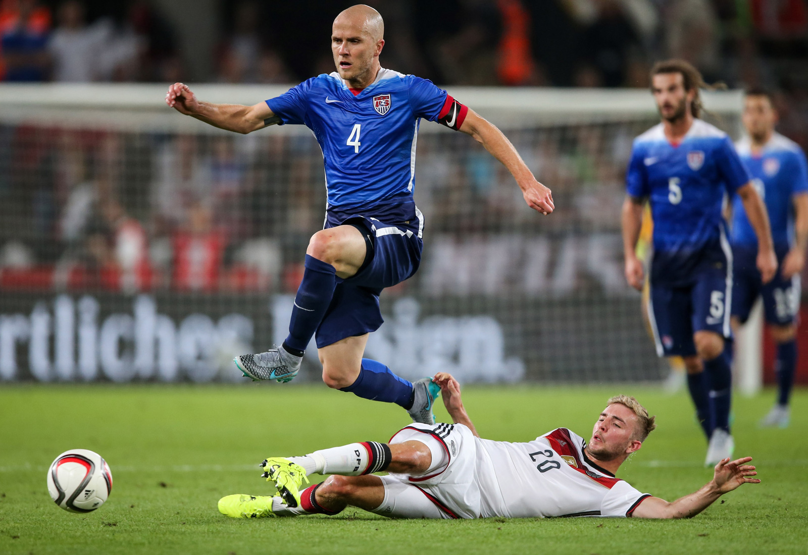 Michael Bradley was everywhere against World Cup champion Germany, assisting on Mix Diskerud's equalizer and commanding the midfield in a 2-1 win in Cologne.
