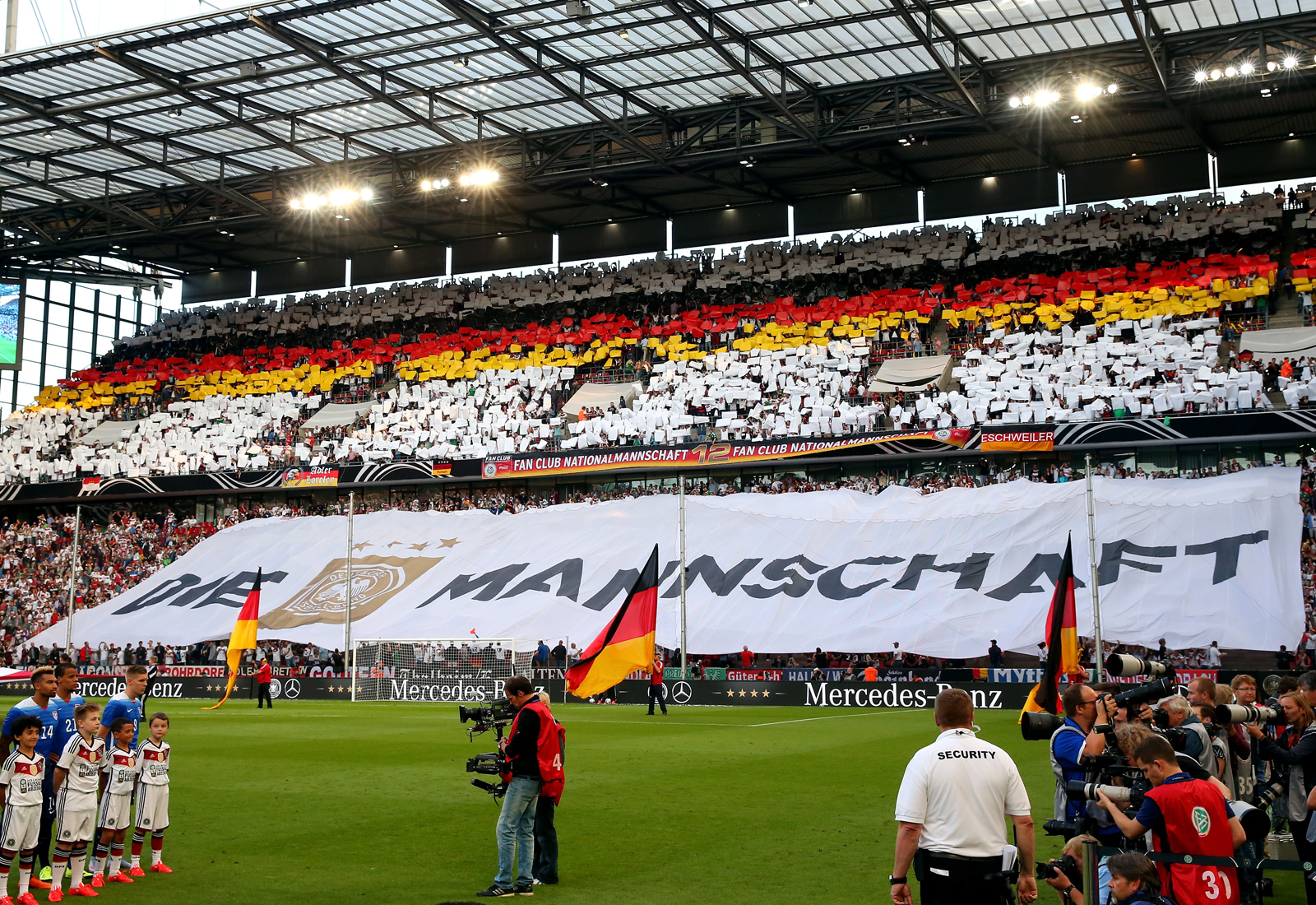 Germany fans in Cologne salute their World Cup champions ahead of a friendly against the United States in June, 2015.