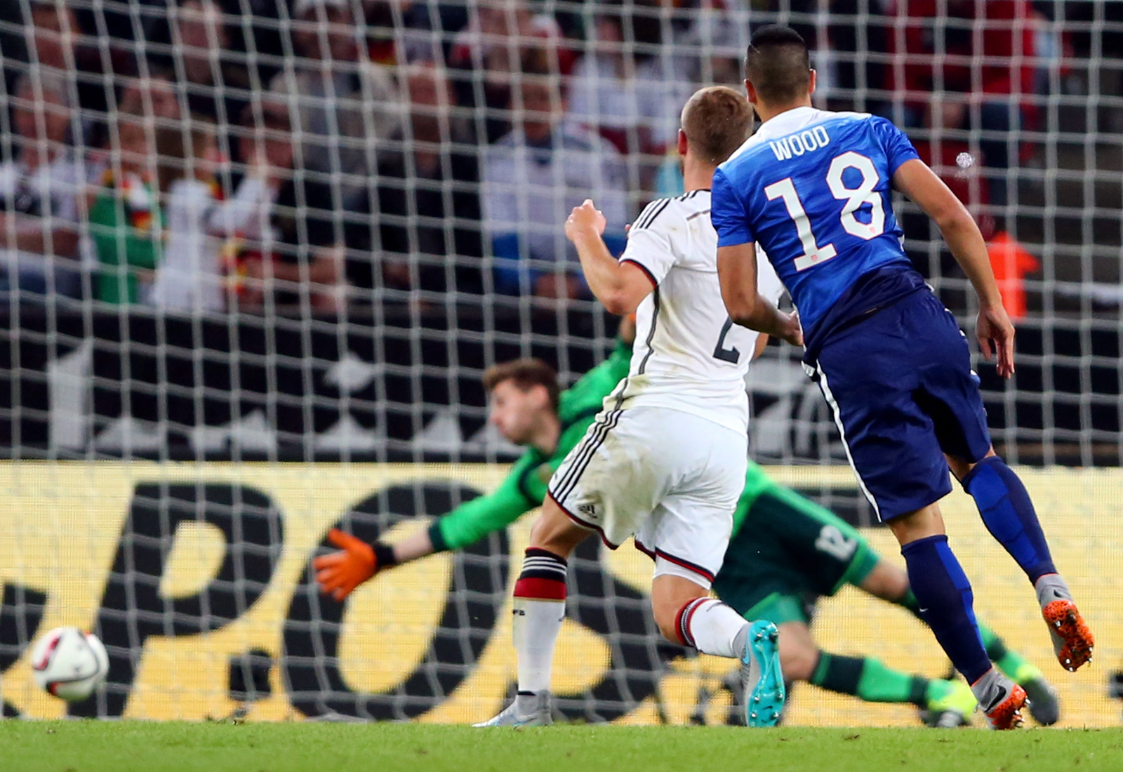 For the second straight game, Bobby Wood came off the bench and scored a stunning winner. He watches his long-range blast beat Ron-Robert Zieler in a 2-1 win over world No. 1 Germany.