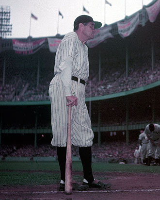 Babe Ruth, New York Yankees, 1948