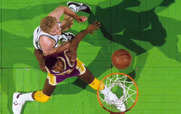 magic johnson larry bird lakers celtics finals