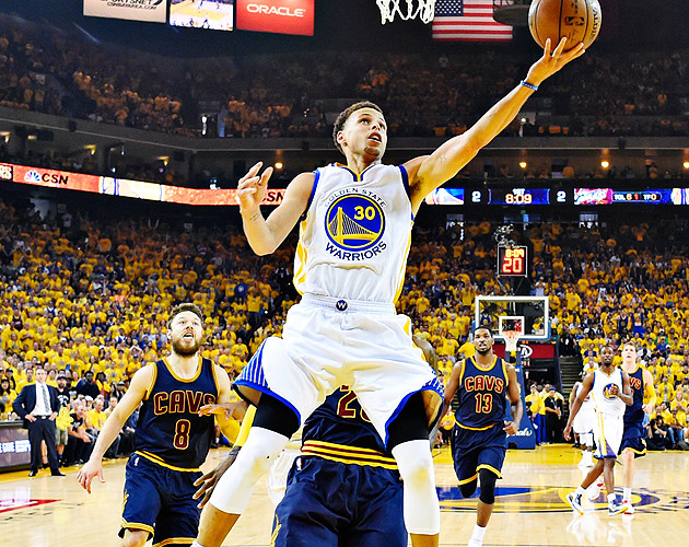 Stephen Curry scored 17 of his 37 points in the fourth quarter of the Warriors' NBA Finals Game 5 win.
