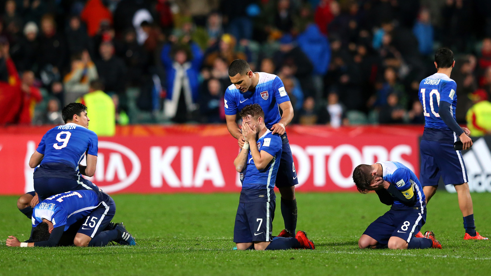 U.S. players' emotions say it all after a gut-wrenching loss to Serbia in penalty kicks at the U-20 World Cup. After a 0-0 draw, the Americans fell 6-5 in PKs, despite Zack Steffen's two saves in sudden death.