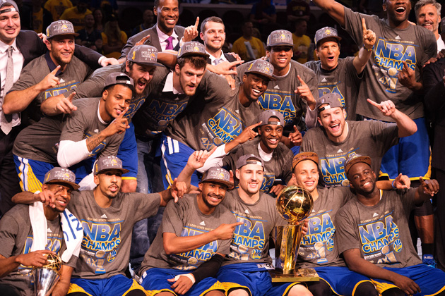 Golden State Warriors won their first NBA title since 1975 on Tuesday night.