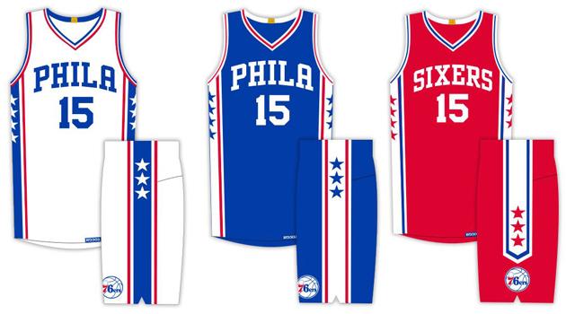 The Philadelphia 76ers unveiled their new uniforms on Thursday.