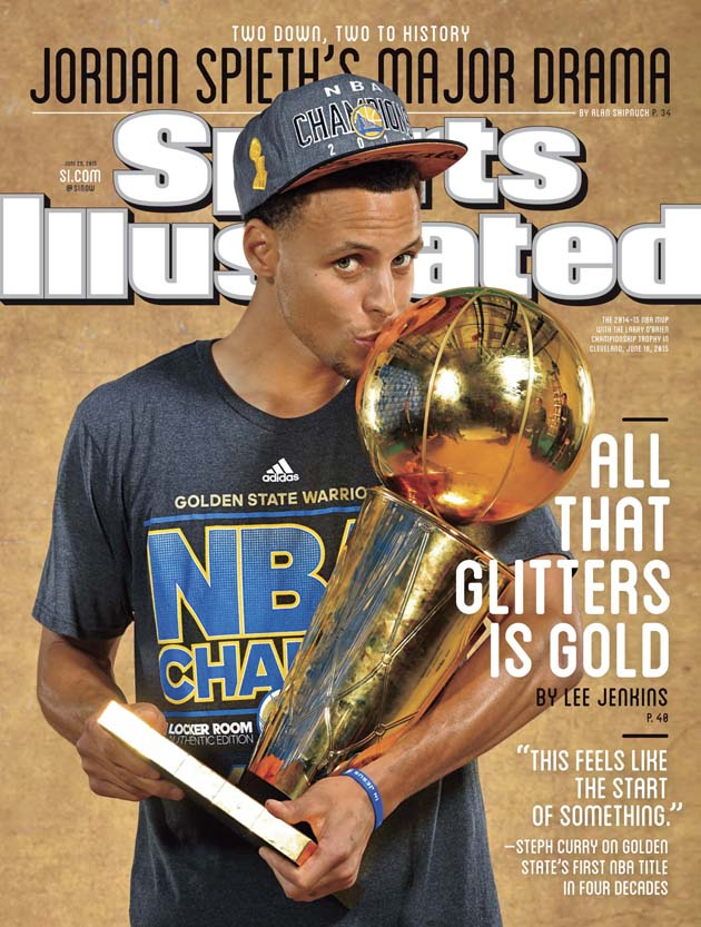 SI Cover The Warriors Gold Rush Is Just Beginning Golden State Guard Stephen Curry