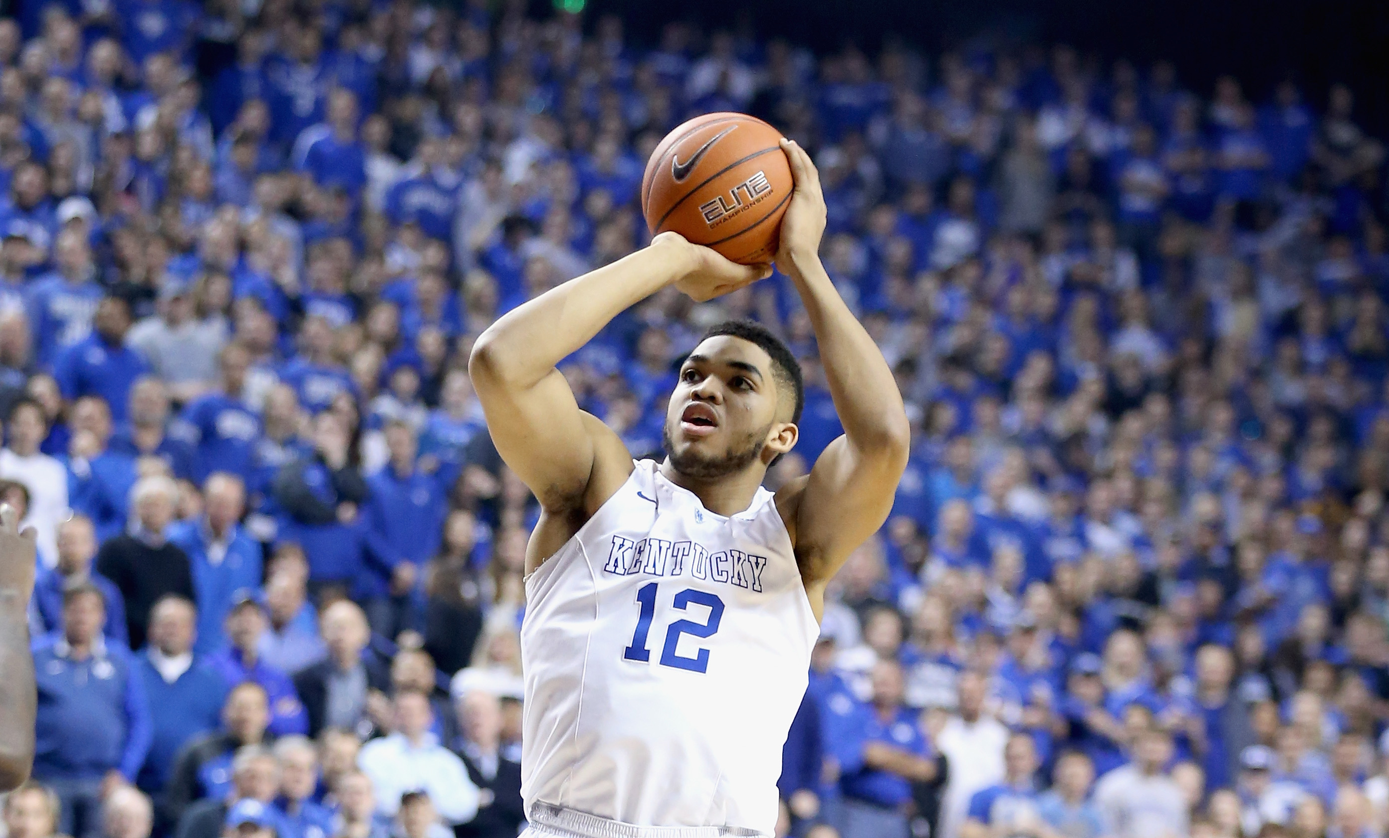 Kentucky forward Karl-Anthony Towns is widely expected to be a top pick in Thursday's NBA draft.
