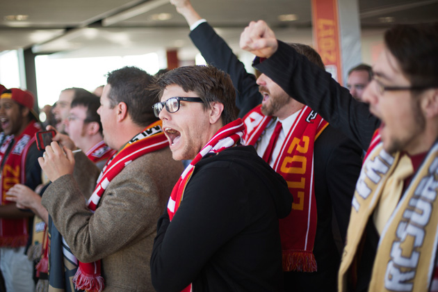 The Terminus Legion chants at Atlanta's MLS expansion reveal