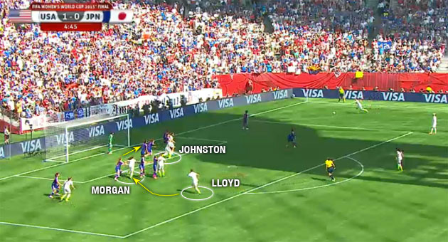 Carli Lloyd's second goal against Japan in the Women's World Cup final