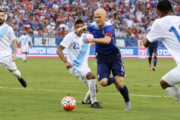 Michael Bradley captains the USA in the CONCACAF Gold Cup