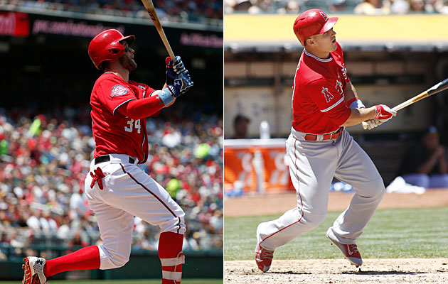 Bryce Harper, Washington Nationals and Mike Trout, Los Angeles Angels