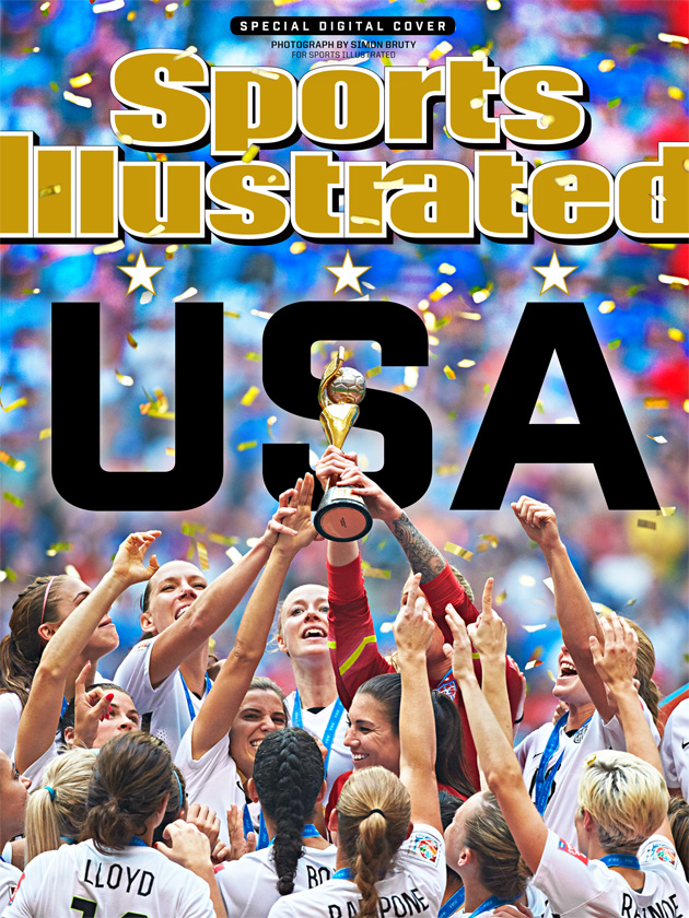 Sports Illustrated's digital cover of the U.S. women's national team's World Cup triumph
