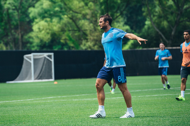 Frank Lampard directs traffic at NYCFC training
