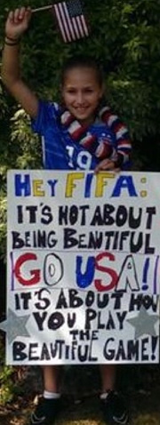 Fan sign at the FIFA World Cup final