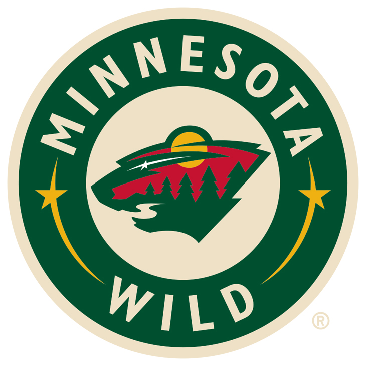 High concept designs are often too clever for their own good, but this striking logo relies on excellent execution to avoid the pitfalls. By combining elements that define the state's vast wilderness—the pine trees, the river, the brightly colored sky and the shooting star—inside the outline of a black bear head it delivers a bold and instantly recognizable look that stands out as the league's best.