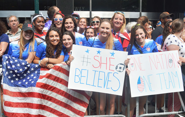 United States women's national team parade World Cup 2015