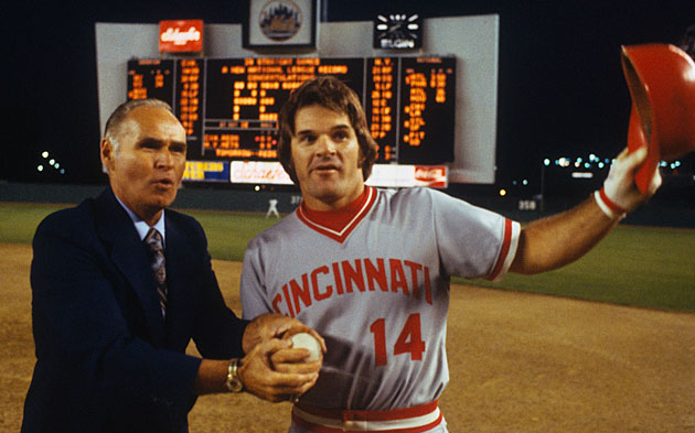 Pete Rose and Tommy Holmes