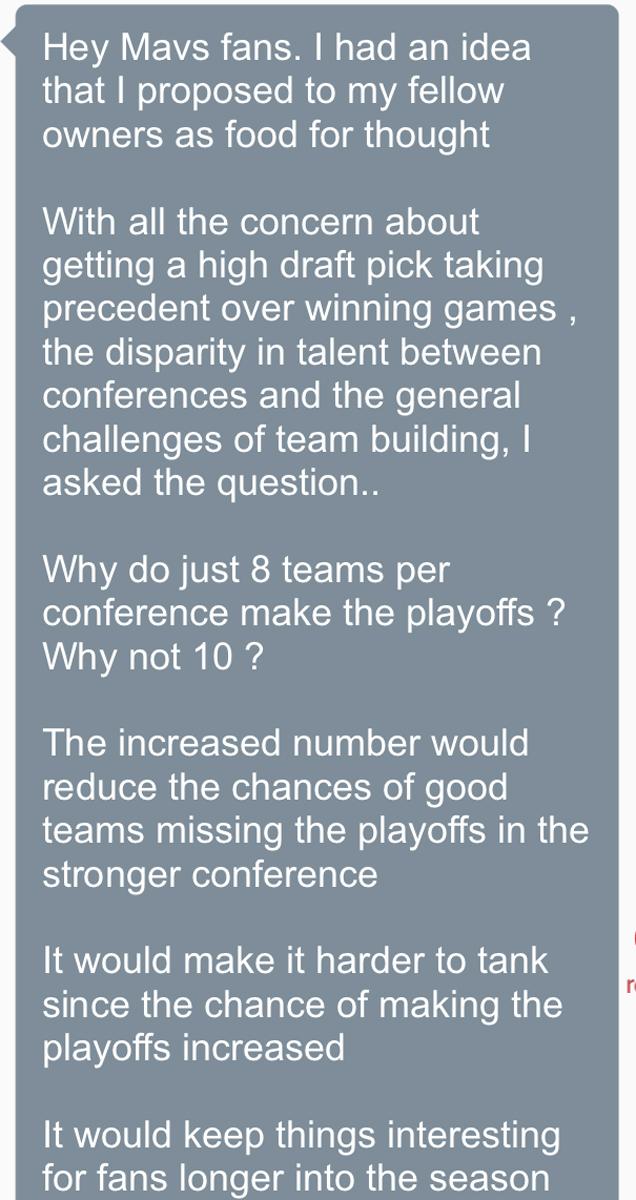 Mark Cuban NBA playoffs expansion idea 1