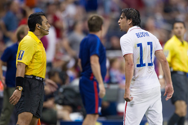 Alejandro Bedoya received his first 2015 Gold Cup minutes in the USA's group finale vs. Panama