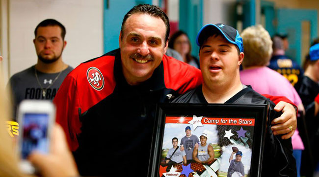 49ers head coach Jim Tomsula Camp for the Stars