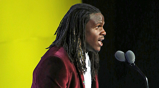 Chiefs running back Jamaal Charles spoke at the Special Olympics opening ceremonies