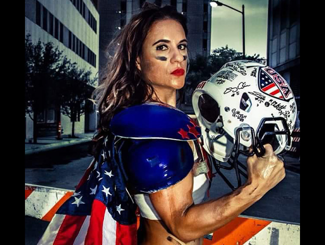Jen Welter, first female NFL coach
