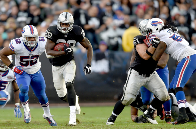 The passing attack is on its way. Can Latavius Murray carry the running game to bigger and better things? (Thearon W. Henderson/Getty Images)