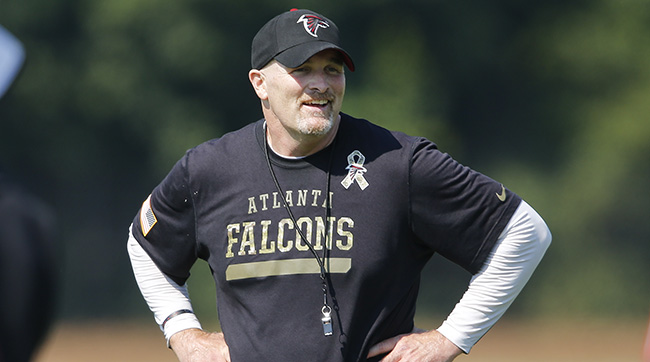 Dan Quinn took a page out of Pete Carroll's book and hired a DJ to play Falcons training camp practices. AP Photo/John Bazemore
