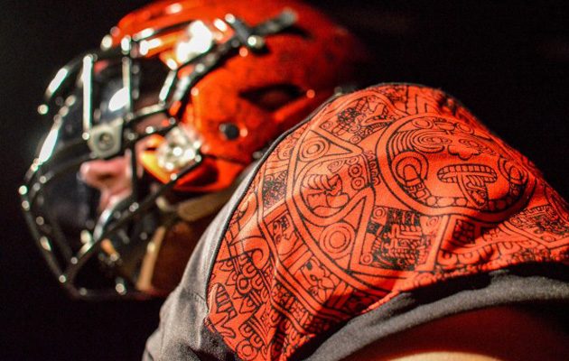b92be3396 San Diego State football  New uniforms feature Aztec calendar