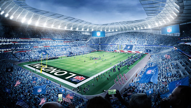 Tottenham's new stadium in London configured for NFL games