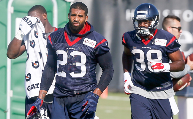 The Texans will be without Arian Foster for a while. (Photo by Bob Levey/AP)