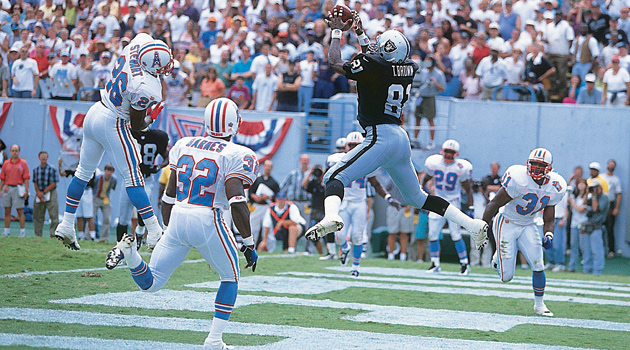 Fred Biletnikoff called this Tim Brown catch the greatest he's ever seen.