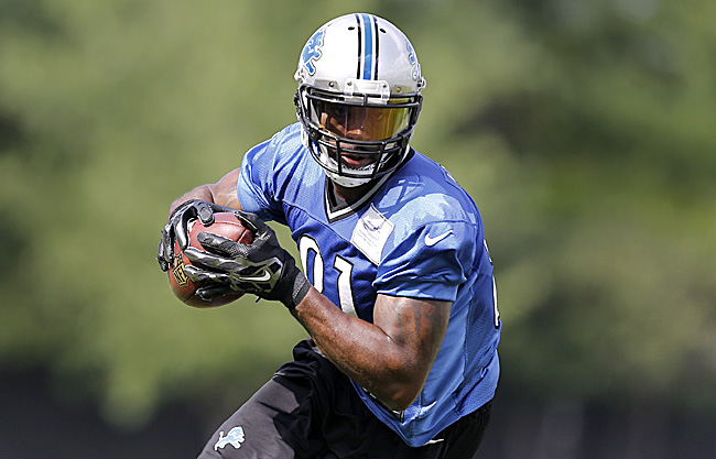 Calvin Johnson isn't slowing down as he enters his ninth pro season. (Photo by Paul Sancya/AP)