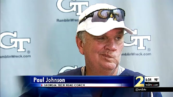 Paul Johnson not impressed face