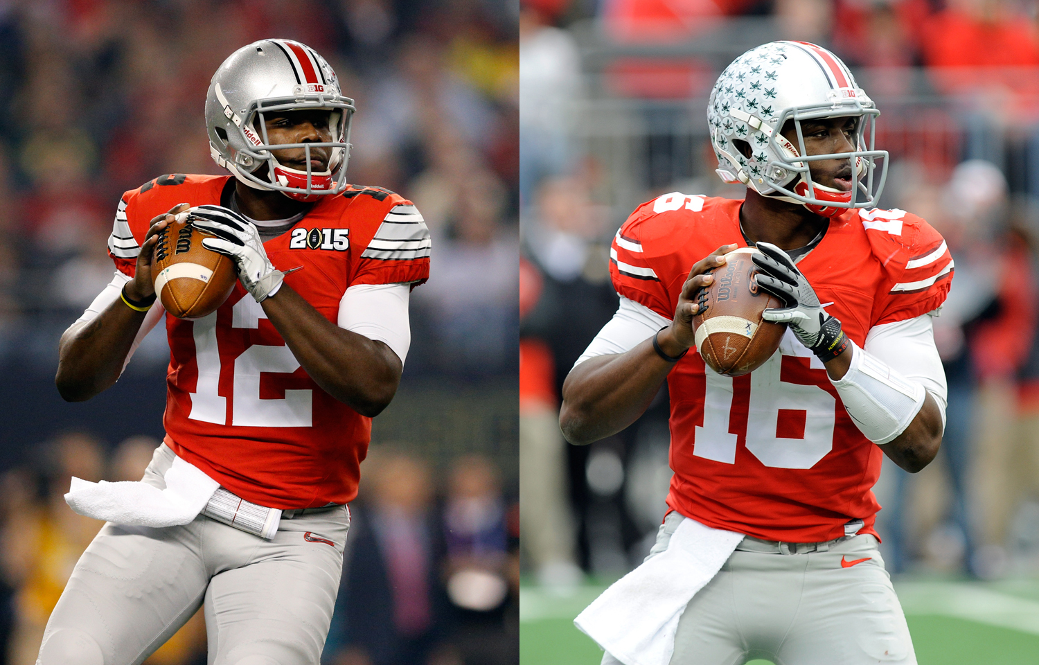 The most compelling storyline of the college football offseason centered on who would win Ohio State's starting quarterback job. With Braxton Miller moving to h-back, J.T. Barrett and Cardale Jones will compete for the right to run the Buckeyes' first-team offense. Jones led Ohio State to a national title, but Barrett flashed immense potential during the regular season.