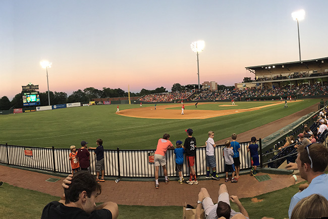 GREENVILLE, S.C. — We stopped at Fluor Field, home of Red Sox single-A affiliate, the Greenville Drive, to catch a game and get a glimpse of top prospect Yoan Moncada.