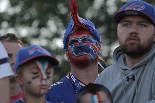 PITTSFORD, N.Y. — Although it was just another day of training camp, Bills fans sported painted faces for their team.