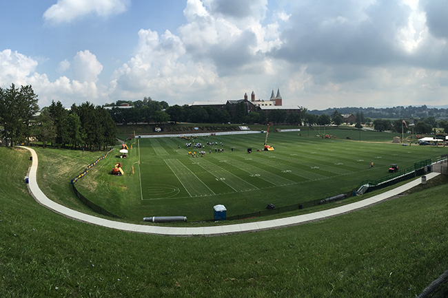 LATROBE, PA. — This year marked the Steelers 50th training camp at Saint Vincent College, a bucolic site in the rolling hills of Western Pennsylvania.