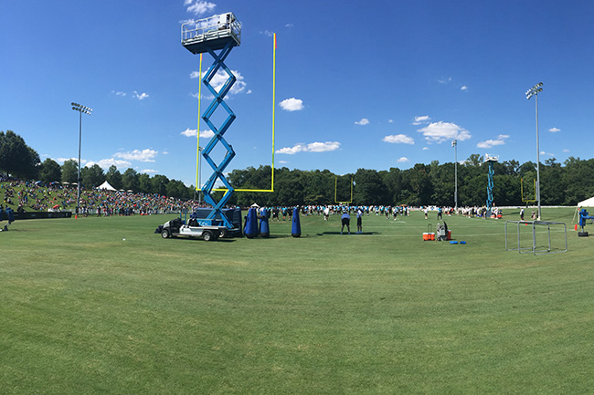 SPARTANBURG, S.C. — The Panthers travel to Wofford College, owner Jerry Richardson's alma mater, for training camp.