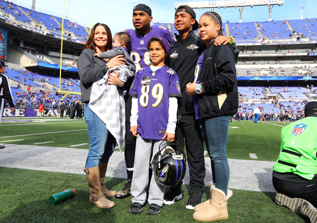 Steve Smith Sr. and his family.