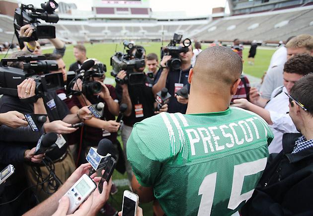 Mississippi State Dak Prescott media
